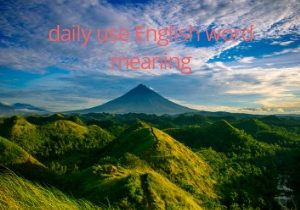 Daily use English word with meaning