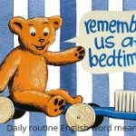 Daily use English words with meaning-Daily routine
